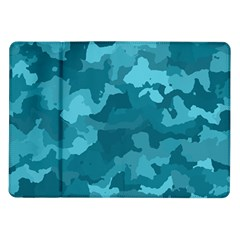 Camouflage Teal Samsung Galaxy Tab 10.1  P7500 Flip Case by MoreColorsinLife