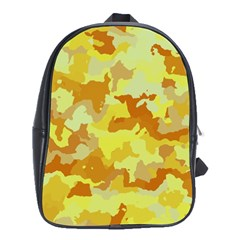 Camouflage Yellow School Bags (xl)  by MoreColorsinLife