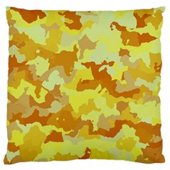 Camouflage Yellow Standard Flano Cushion Cases (Two Sides)  by MoreColorsinLife