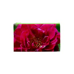Red Rose Cosmetic Bag (xs) by timelessartoncanvas