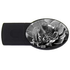 Black and White Rose USB Flash Drive Oval (1 GB)  by timelessartoncanvas