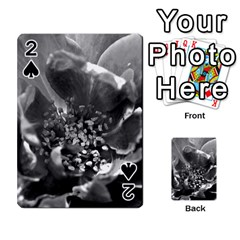 Black And White Rose Playing Cards 54 Designs  by timelessartoncanvas