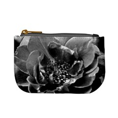 Black And White Rose Mini Coin Purses by timelessartoncanvas