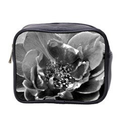 Black And White Rose Mini Toiletries Bag 2 Side by timelessartoncanvas