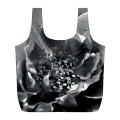 Black And White Rose Full Print Recycle Bags (l)  by timelessartoncanvas