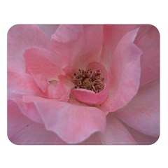 Pink Rose Double Sided Flano Blanket (large)  by timelessartoncanvas