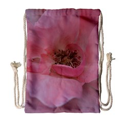 Pink Rose Drawstring Bag (large) by timelessartoncanvas