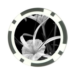 Exotic Black And White Flowers Poker Chip Card Guards by timelessartoncanvas