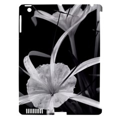 Exotic Black And White Flowers Apple Ipad 3/4 Hardshell Case (compatible With Smart Cover) by timelessartoncanvas