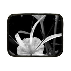 Exotic Black And White Flowers Netbook Case (small)  by timelessartoncanvas