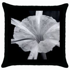 Exotic Black And White Flower 2 Throw Pillow Cases (black) by timelessartoncanvas