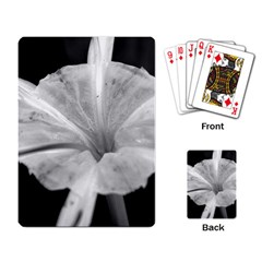 Exotic Black And White Flower 2 Playing Card by timelessartoncanvas