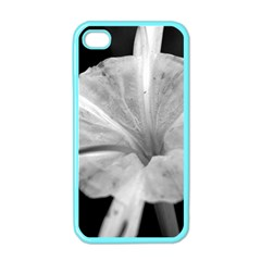 Exotic Black And White Flower 2 Apple Iphone 4 Case (color) by timelessartoncanvas