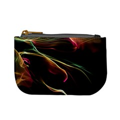 Glowing, Colorful  Abstract Lines Mini Coin Purses by FantasyWorld7
