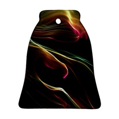 Glowing, Colorful  Abstract Lines Bell Ornament (2 Sides) by FantasyWorld7