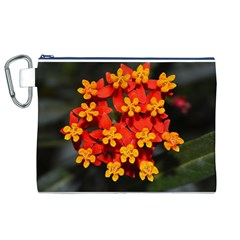 Orange And Red Weed Canvas Cosmetic Bag (xl)  by timelessartoncanvas