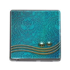 Wonderful Decorative Design With Floral Elements Memory Card Reader (square)