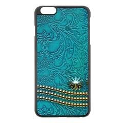 Wonderful Decorative Design With Floral Elements Apple Iphone 6 Plus Black Enamel Case