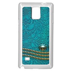 Wonderful Decorative Design With Floral Elements Samsung Galaxy Note 4 Case (white) by FantasyWorld7