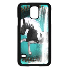 Beautiful Horse With Water Splash  Samsung Galaxy S5 Case (black) by FantasyWorld7