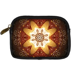 Elegant, Decorative Kaleidoskop In Gold And Red Digital Camera Cases by FantasyWorld7