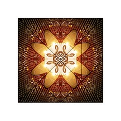 Elegant, Decorative Kaleidoskop In Gold And Red Acrylic Tangram Puzzle (4  x 4 ) by FantasyWorld7