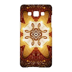 Elegant, Decorative Kaleidoskop In Gold And Red Samsung Galaxy A5 Hardshell Case  by FantasyWorld7