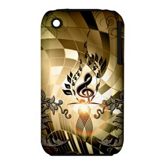 Clef With  And Floral Elements Apple iPhone 3G/3GS Hardshell Case (PC+Silicone) by FantasyWorld7