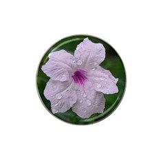 Pink Purple Flowers Hat Clip Ball Marker (10 Pack) by timelessartoncanvas