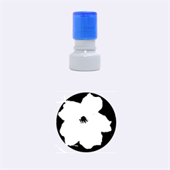 Pink Purple Flowers Rubber Round Stamps (small) by timelessartoncanvas