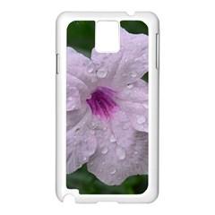 Pink Purple Flowers Samsung Galaxy Note 3 N9005 Case (white) by timelessartoncanvas