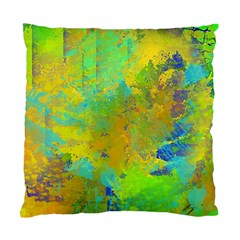 Abstract In Blue, Green, Copper, And Gold Standard Cushion Case (one Side)  by theunrulyartist