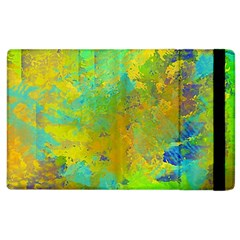 Abstract In Blue, Green, Copper, And Gold Apple Ipad 3/4 Flip Case by theunrulyartist