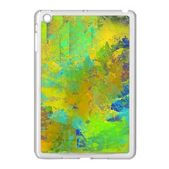 Abstract In Blue, Green, Copper, And Gold Apple Ipad Mini Case (white) by theunrulyartist