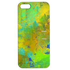 Abstract In Blue, Green, Copper, And Gold Apple Iphone 5 Hardshell Case With Stand by theunrulyartist