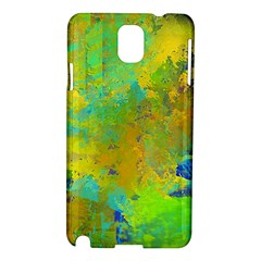 Abstract In Blue, Green, Copper, And Gold Samsung Galaxy Note 3 N9005 Hardshell Case by theunrulyartist