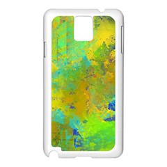 Abstract In Blue, Green, Copper, And Gold Samsung Galaxy Note 3 N9005 Case (white) by theunrulyartist