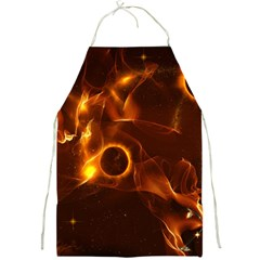 Fire And Flames In The Universe Full Print Aprons by FantasyWorld7
