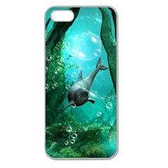 Wonderful Dolphin Apple Seamless Iphone 5 Case (clear) by FantasyWorld7