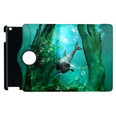 Wonderful Dolphin Apple Ipad 3/4 Flip 360 Case by FantasyWorld7