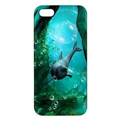 Wonderful Dolphin Apple Iphone 5 Premium Hardshell Case by FantasyWorld7