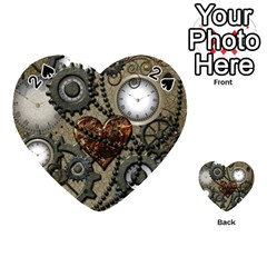 Steampunk With Heart Playing Cards 54 (heart)  by FantasyWorld7