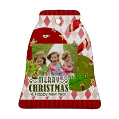 Xmas By Xmas   Bell Ornament (two Sides)   Pfnjj8pxn1pm   Www Artscow Com Front