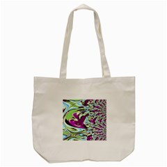 Purple, Green, And Blue Abstract Tote Bag (cream)  by theunrulyartist