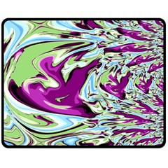 Purple, Green, And Blue Abstract Fleece Blanket (medium)  by theunrulyartist