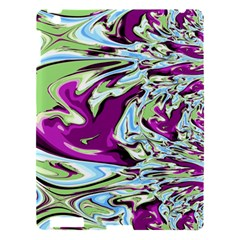 Purple, Green, And Blue Abstract Apple Ipad 3/4 Hardshell Case by theunrulyartist