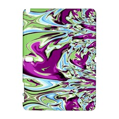 Purple, Green, And Blue Abstract Samsung Galaxy Note 10 1 (p600) Hardshell Case by theunrulyartist