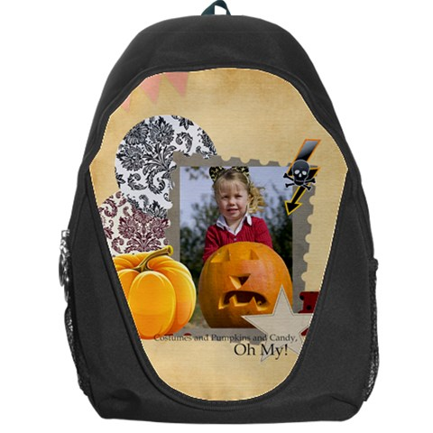 Halloween By Helloween   Backpack Bag   Tyfzr2jvotcy   Www Artscow Com Front
