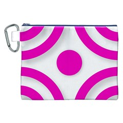 Florescent Pink White Abstract  Canvas Cosmetic Bag (xxl)  by OCDesignss