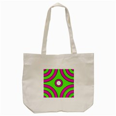 Neon Green Black Pink Abstract  Tote Bag (cream)  by OCDesignss